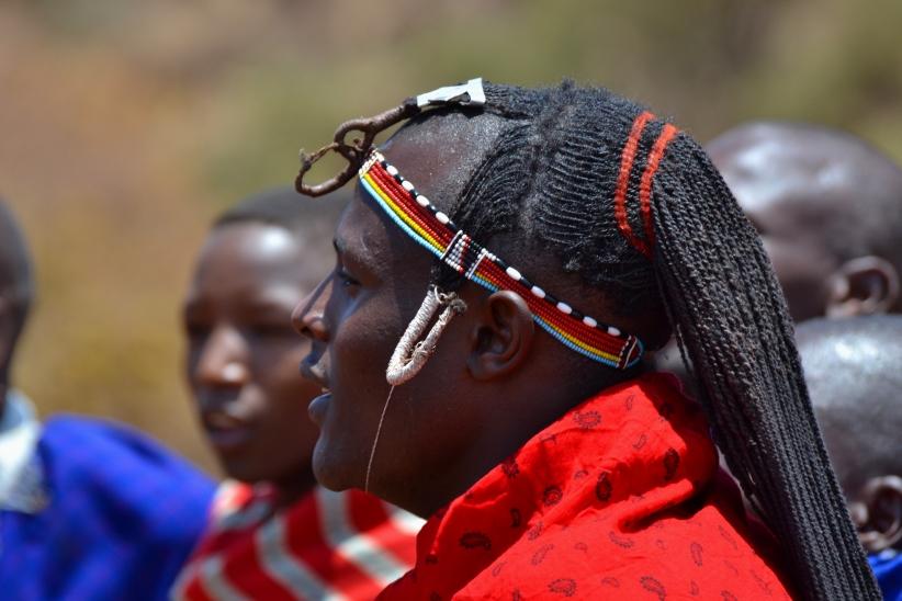 bachelor Masai in Amboseli, Kenya